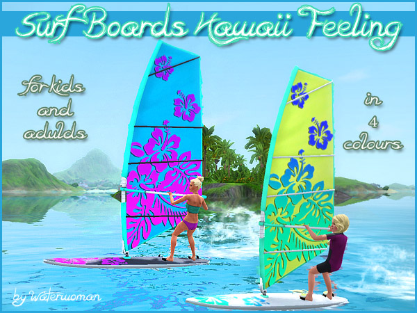 Surf Board Hawaii Feeling by Waterwoman