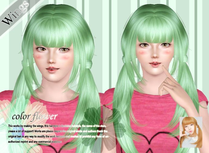 Colorflower Hair for Females by Wings