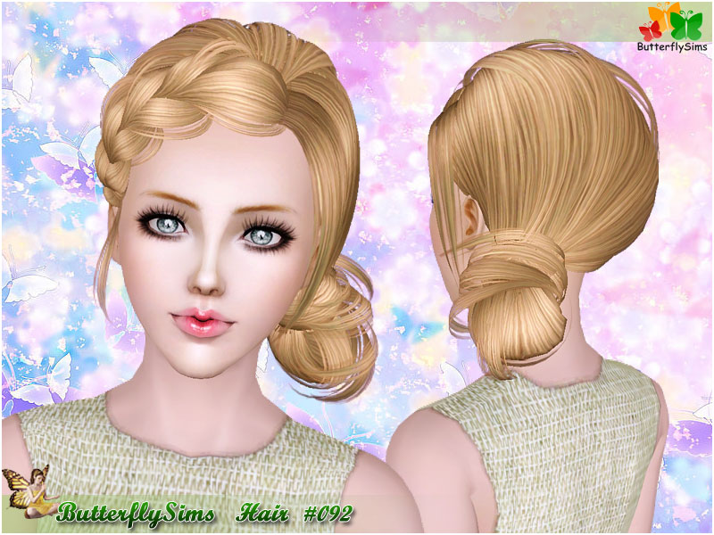 Hairstyle 092 by Butterflysims