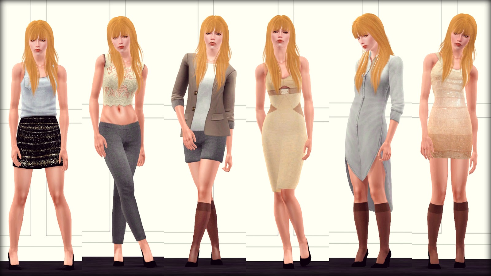 Female Model Pose Set 1 by AfterDusk Sims