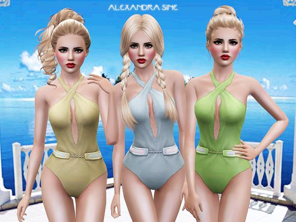Belted Swimsuit by Alexandra_Sine