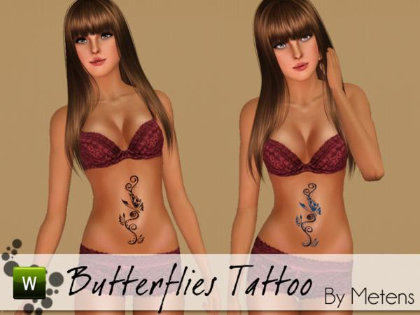 Butterflies Tattoo by Metens