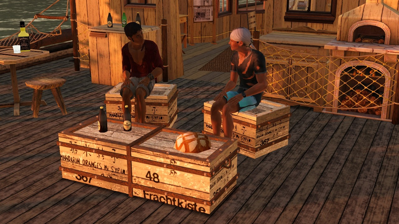 Old Cargo Boxes by Galadrielh