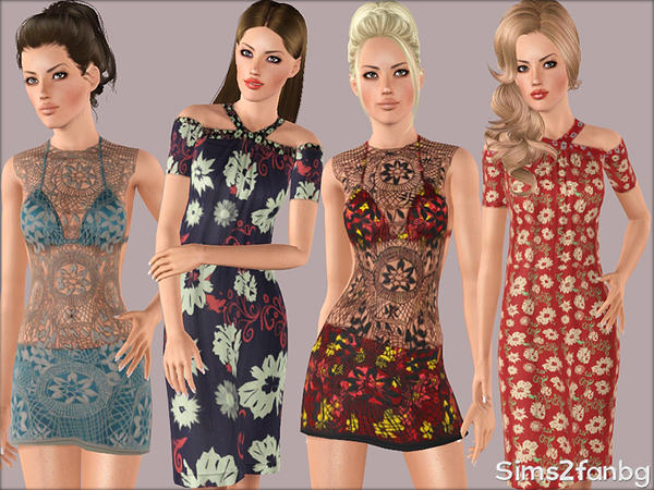 342 - Summer set by sims2fanbg