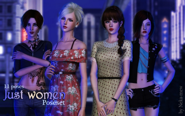 "Poseset ""Just women"" by Neka-mew"
