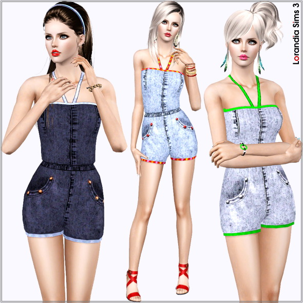 Denim Romper by Lore