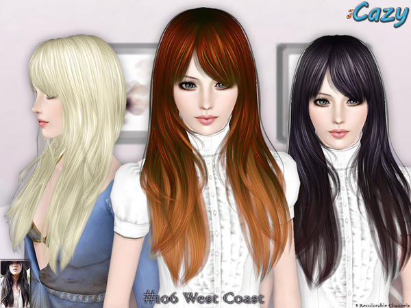 West Coast Hairstyle - Set by Cazy