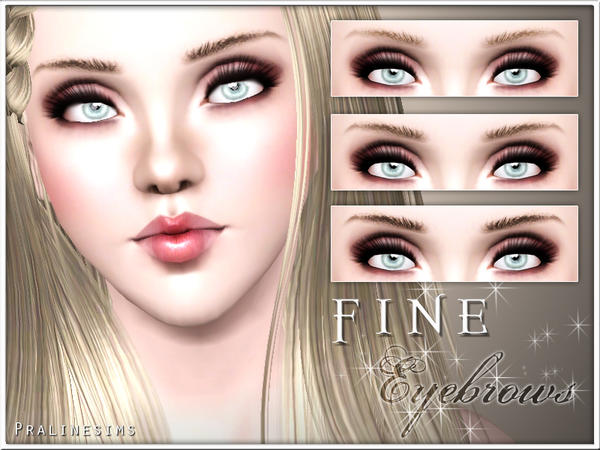 Fine Eyebrows by Pralinesims