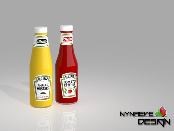 Ketchup and Mustard - Kitchen Decoration by NynaeveDesign