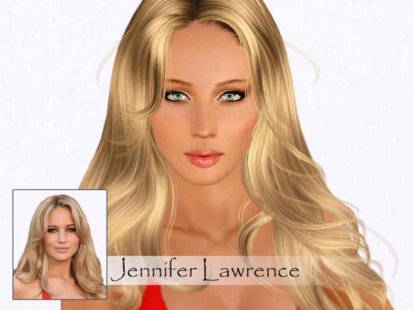 Jennifer Lawrence by Ms Blue
