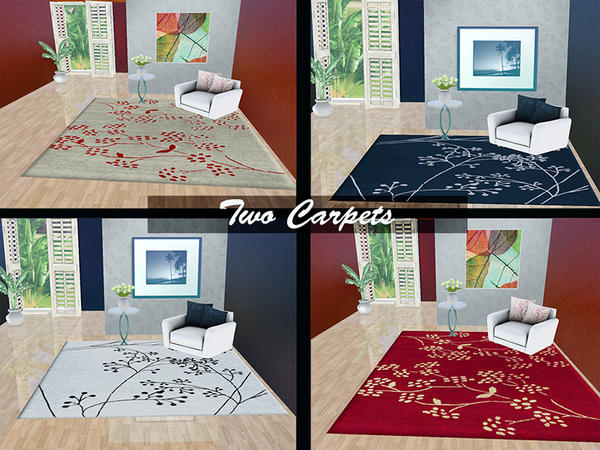 Two colors Rug by flower_love