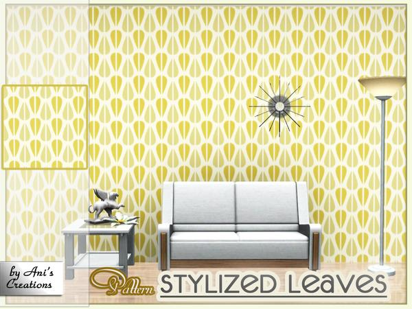 Stylized leaves pattern by Anis Creations