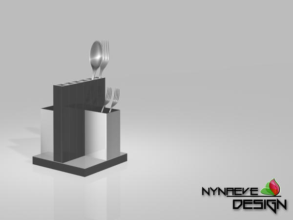 Stainless Steel Utensil Holder - Kitchen Decoration by NynaeveDesign