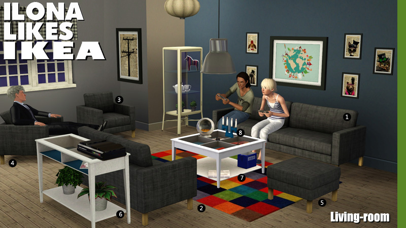 Ilona likes Ikea: The Living-Room by Sandy