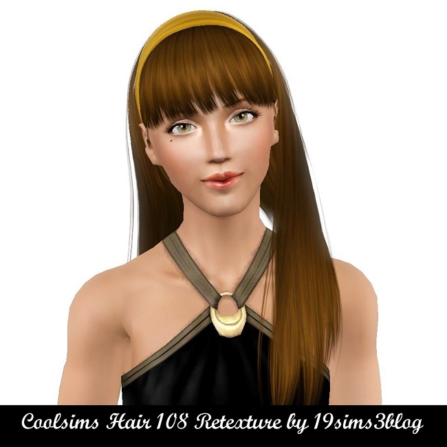 Coolsims Hair 108 Retexture by 19sims3blog
