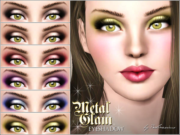 Metal Glam Eyeshadow by Pralinesims