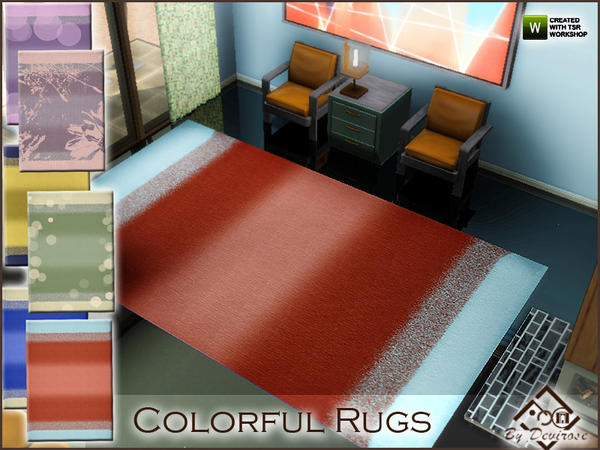 Colorful Rugs Set by Devirose