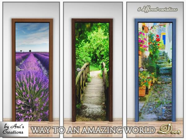 Door with sticker Way to an amazing world by Anis Creations