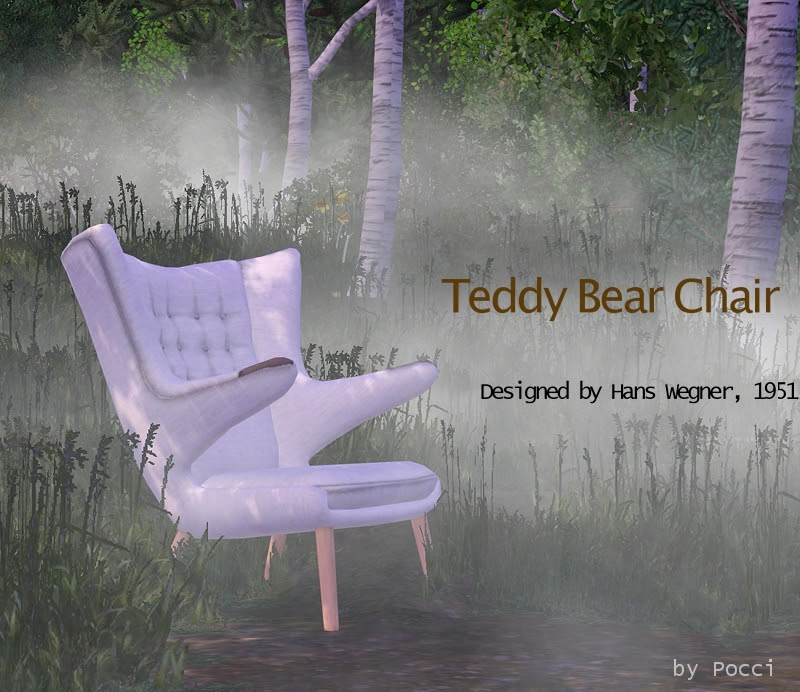 Teddy Bear Chair Set by Pocci