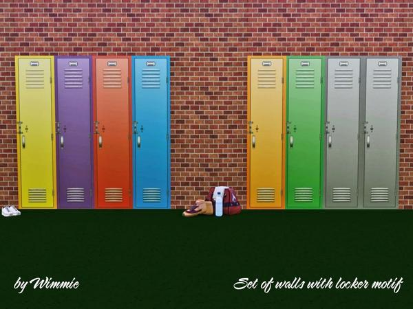 Set of Walls with locker by Wimmie