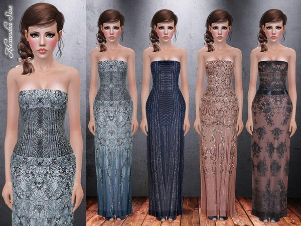 Pure Elegance Evening Gown by Alexandra_Sine