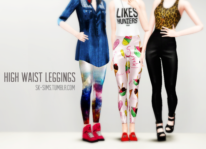 High Waist Leggins by sk-sims