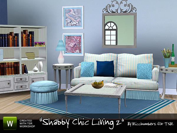 Shabby Chic Living 2 by riccinumbers