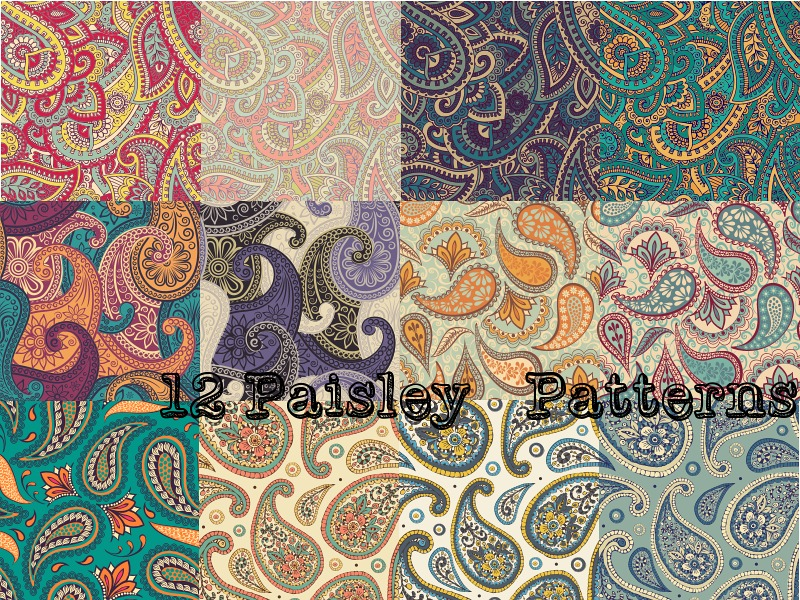 12 Paisley Patterns by Paperfriendd