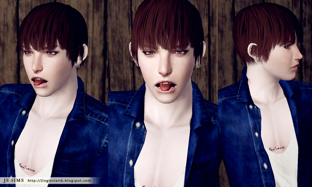 The Shaggy Look Hairstyle Edited by JS Sims 3