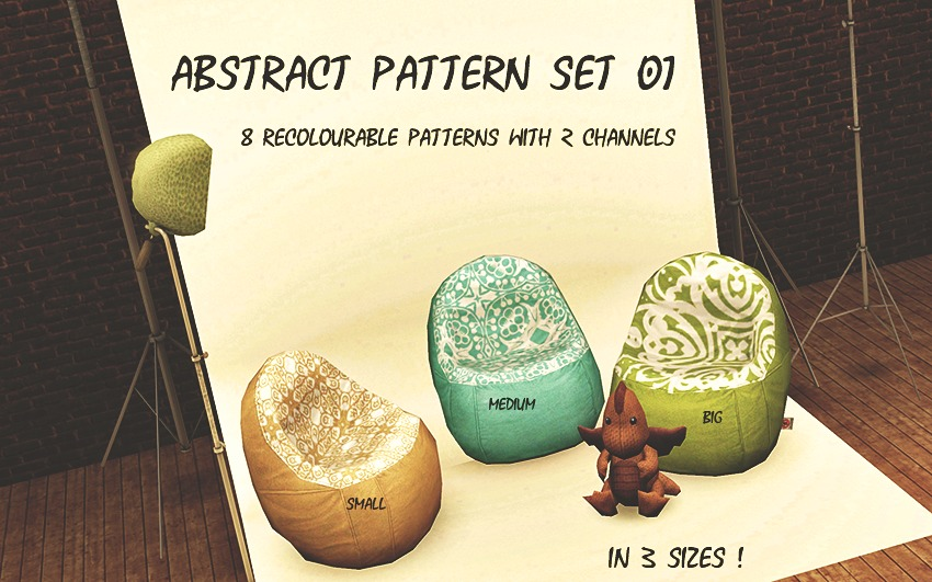 Abstract Pattern Set 01 by Phyre