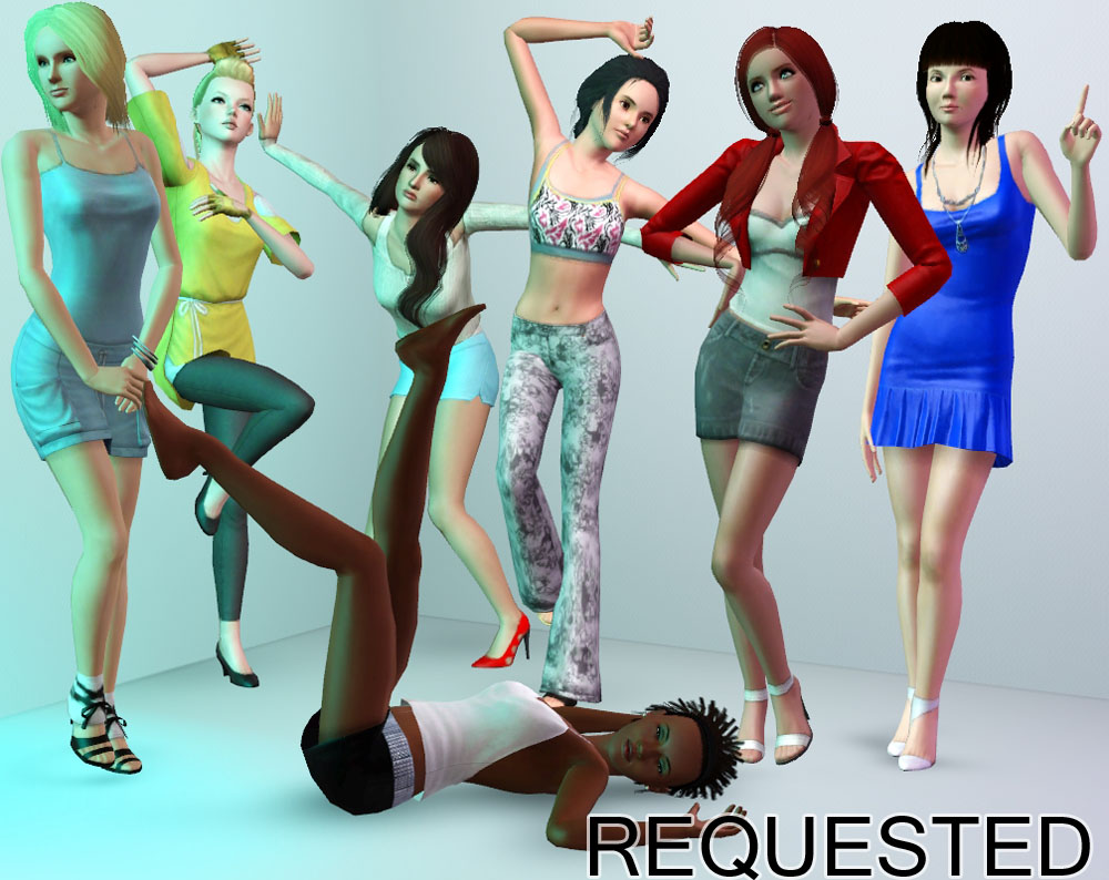 Facebook Request Pose Pack by traelia