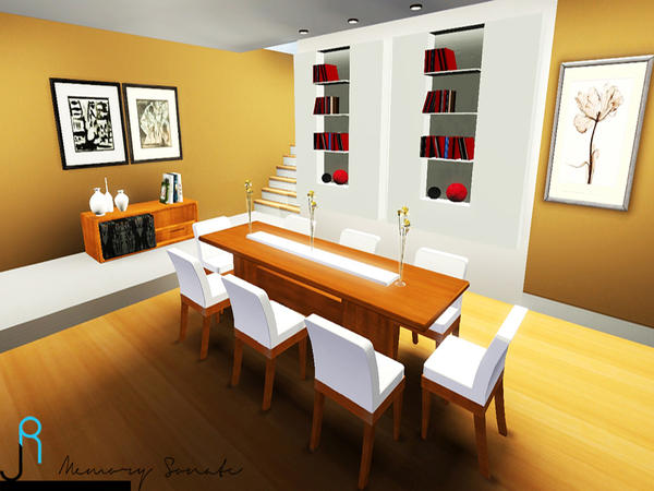 Wooden Dining Room by Memory Sonate