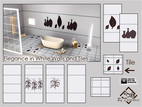 Elegance in White Walls and Tiles Set by Devirose
