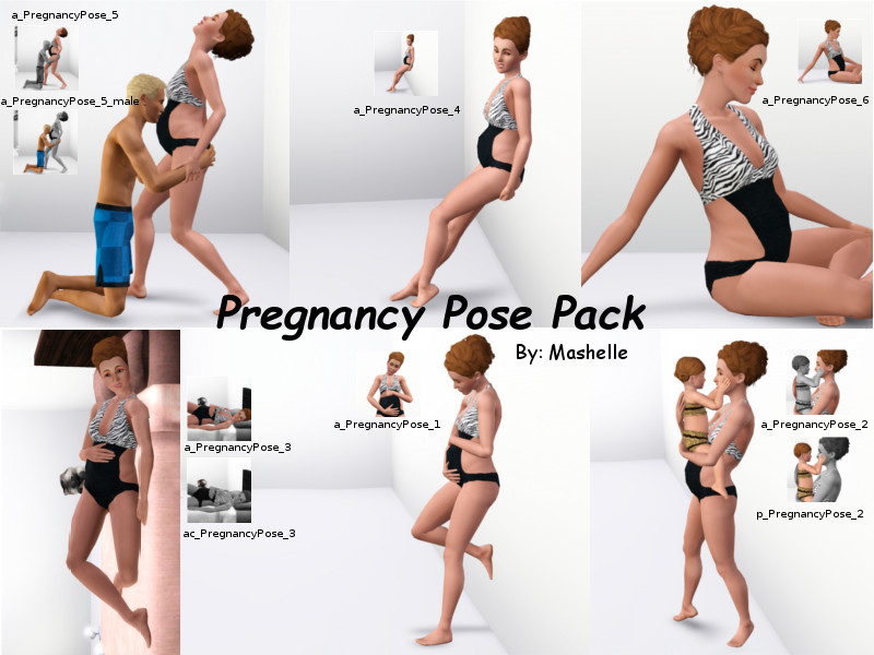 Pregnancy Pose Pack by Mashelle