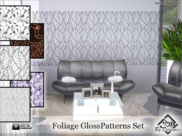 Foliage Gloss Patterns by Devirose