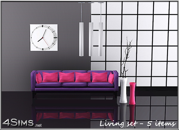 Modern Living Room Set by Mirel