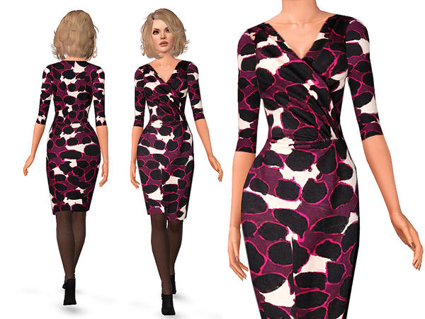 Floral Print Dress by SimDetails