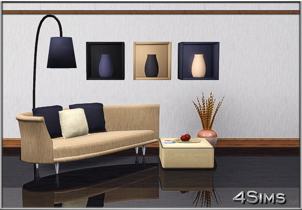 Aria Wall Boxes and Floor Lamp by Mirel