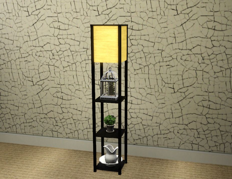 Floor Lamp with Shelves by Honeywell