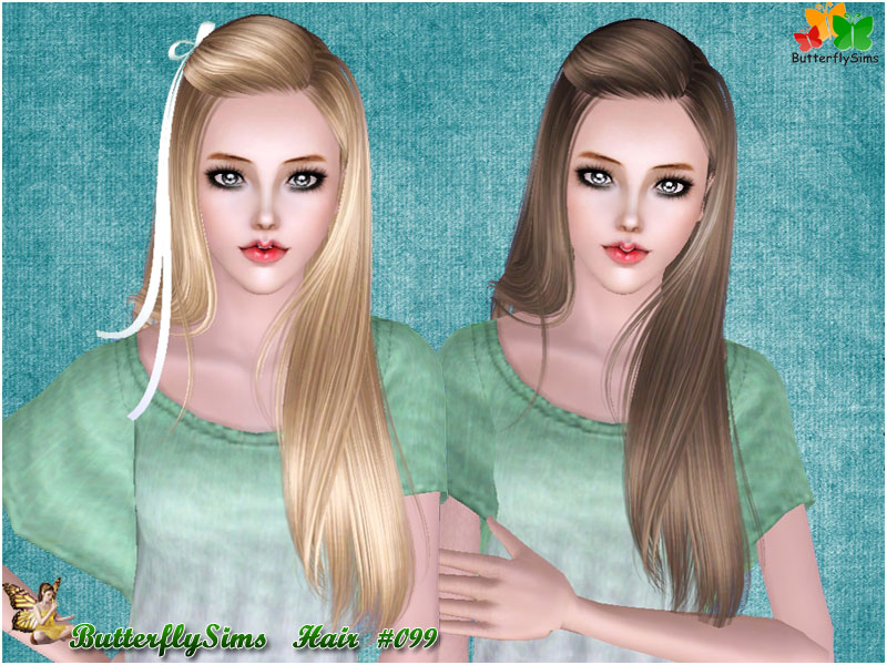 Hairstyle 099 by ButterflySims