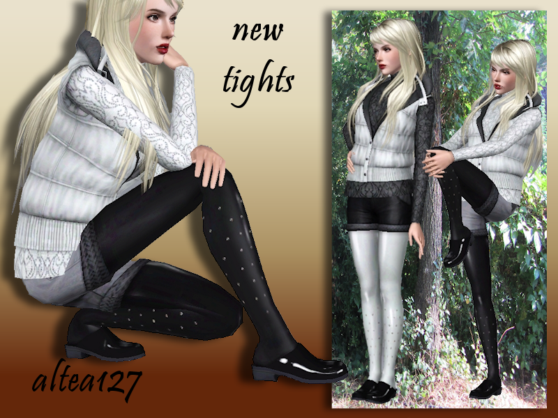 Tights with Rhinestones by Altea127