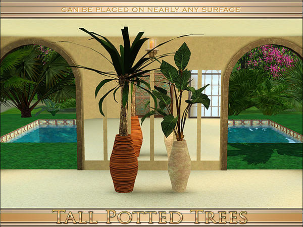 Tall Potted Trees by Playful
