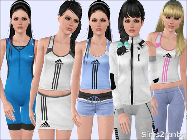 352 - Sport set by sims2fanbg