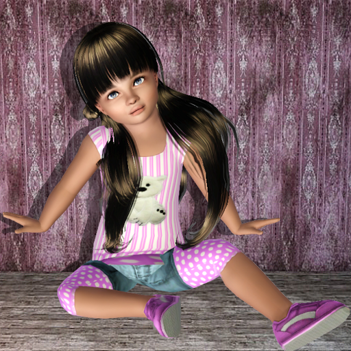 Toddler poses set #1 by MartyP