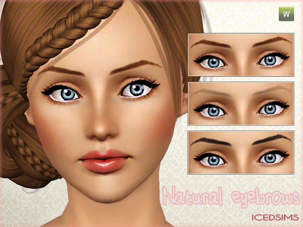 Natural eyebrows by icedsims