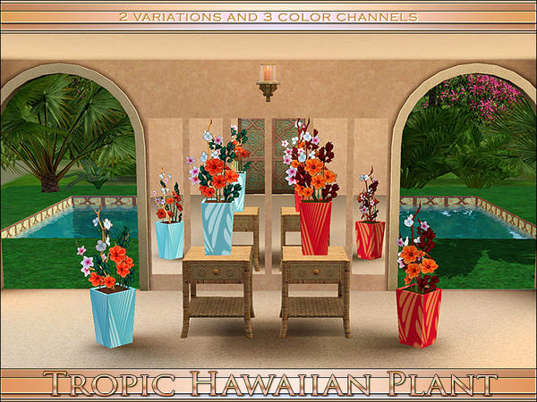 Tropic Hawaiian Plant by Playful