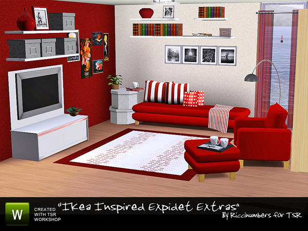 Ikea Inspired Expidet Extras by riccinumbers