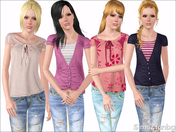 354 - Casual set for teens by sims2fanbg