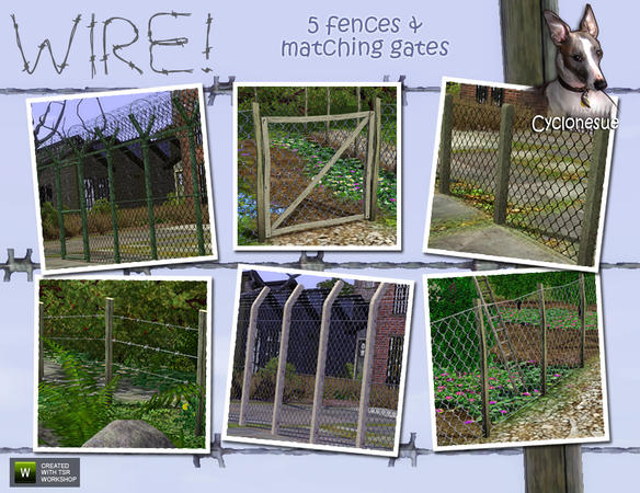 Barbed and Chickenwire Fences by Cyclonesue