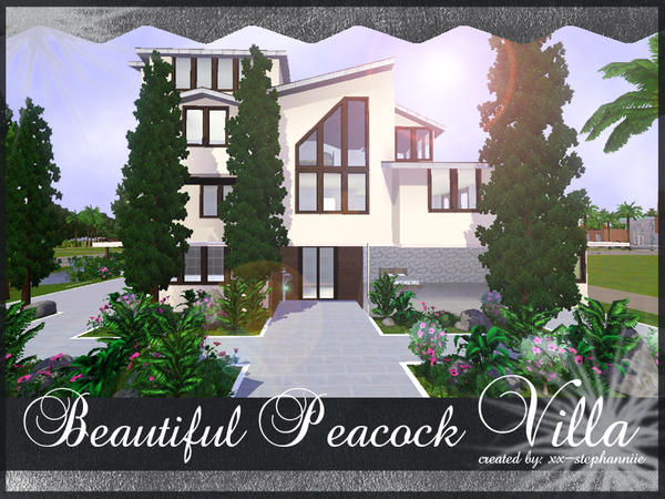 Beautiful Peacock Villa By xx-stephanniie